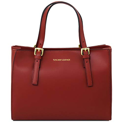 Tuscany Leather Aura Borsa a mano in pelle Rosso