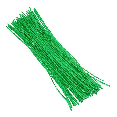 200 pièces 20 cm cravate de jardin, cravates molles de plante verte, fil support revêtu de plastique organisateur de câbles polyvalent