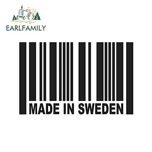 15cm x 9cm Hergestellt in Schweden Barcode Auto Aufkleber reflektierende Vinyl Aufkleber Euro DTM LKW Stoßstange Amg Fenster Treiben Italien Gold