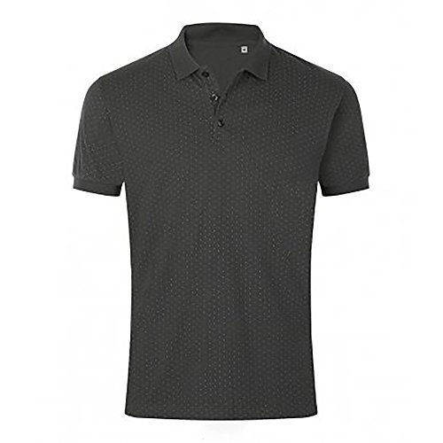 SOLS Herren Brandy Pique Polo Shirt Punktemuster (L) (Dunkelgrau/Weiß)
