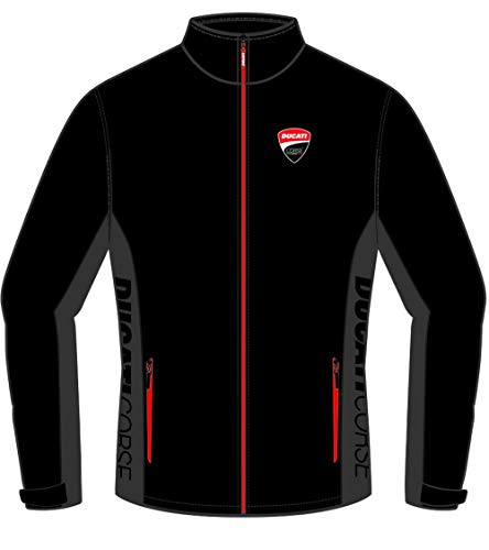 Ducati Herren Softshell Jacke Schwarz Corse - Offiziell 2019 XX-Large