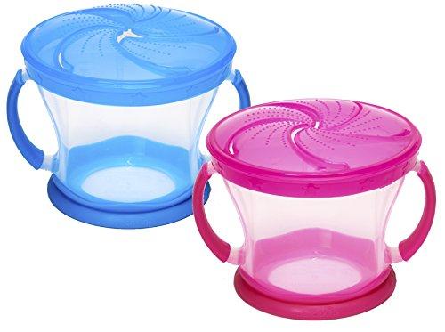 Munchkin 2 Piece Snack Catcher, Blue/Pink
