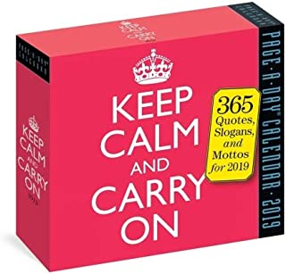 2019 Keep Calm and Carry On Daily Page-A-day Box/Desk Calendar