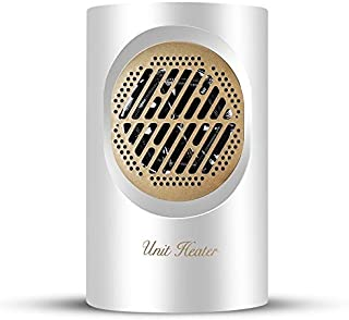 Ventilador MCY BG-360 Mini Hogar de escritorio del radiador del calentador del calentador eléctrico de calentamiento de aire del ventilador (Negro) (Color : White)