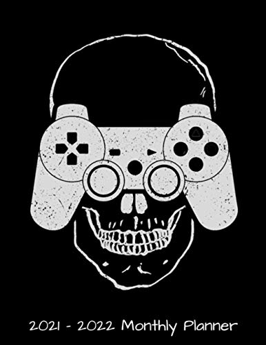 2021 - 2022 Monthly Planner: Mind Controller Skull Gaming Gamer Daily Weekly Monthly Planner - 24 Months Jan 2021 to Dec 2022 Diary, Calendar ... Quotes, Notes, To Do's and More.