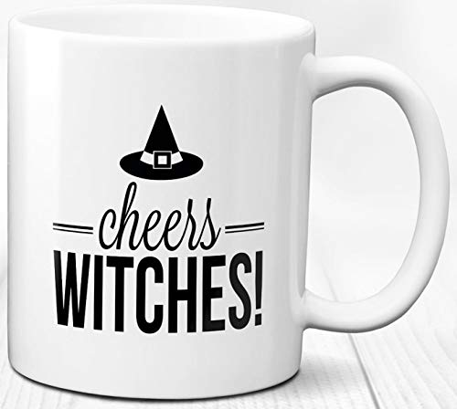 Hexen Prost Kaffeebecher Halloween Thema Geschenk 330 ml Keramik Tasse