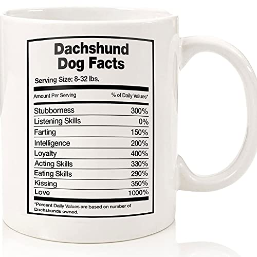 Dachshund Dog Facts, Dachshund Mug, Dachshund Gift, Dachshund Coffee Mug, Dachshund Mom, Wiener, Longhair Dachshund, Sausage Dog Gift, Ceramic Novelty Coffee Mugs 11oz, 15oz Mug, Tea Cup, Gift Hallow