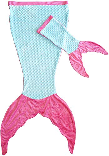 Mermaid Tail Blanket for Girls - Soft Kids Blankie Made by Minky Plush - Includes a Free Newborn...