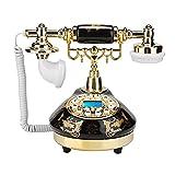 TAIJU-CHENCHEN Teléfono europeo Teléfono Teléfono Hogar Clasípico Antiguo Moda Teléfono con cable, Teléfono Retro Cordon Landline Home Teléfono Base redonda Cerámica Europea Antigua Antigua Moda Teléf