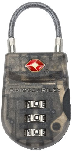 Briggs & Riley Lightweight TSA Cable Lock, Smoke