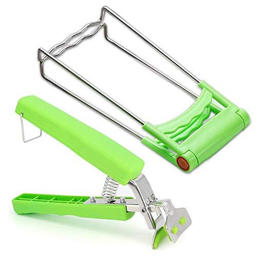 ACONDE - Pinzas de sujeción para platos calientes (2 unidades), color verde