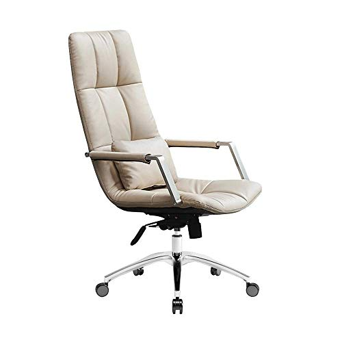 N/Z Home Equipment Ergonomic Office Chair Computer Desk Chair PU Leather High Back Executive Swivel Task Chair with Lumbar Support for Home Office (Color : Brown)
