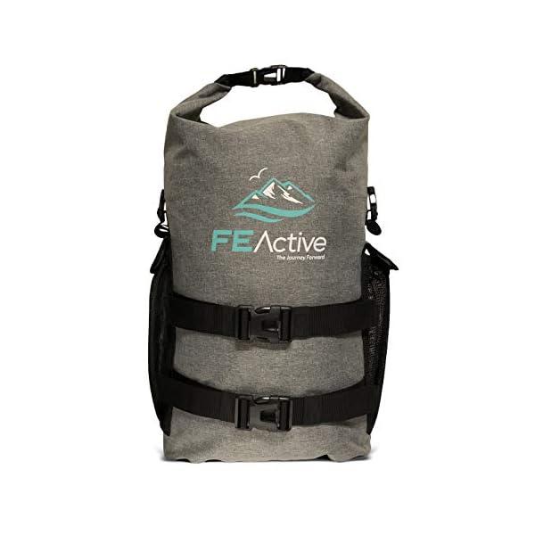 41aYkXEcTYL. SS600  - FE Active Mochila Impermeable Dry Bag - Bolsa Estanca 25L para Deportes Acuáticos, Escuela, Aire Libre, Bolsa de Gimnasio, Camping, Mochilero, Senderismo, Cano, Kayak, Surf | Diseñada en California