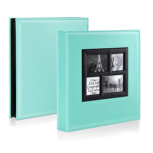 Ywlake Photo Album 4x6 500 Pockets Photos, Extra Large Capacity Family Wedding Picture Albums Holds 500 Horizontal and Vertical Photos Pictures Teal