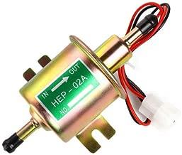 Fuel Pump 12v HEP-02A Electric Fuel Transfer Pump 2.5-4psi 5/16 inch Inlet and Outlet for V4 V6 V8 Carburetor Engine