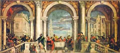 Veronese Feest In Het Huis Van Levi A3 Doos Canvas Print