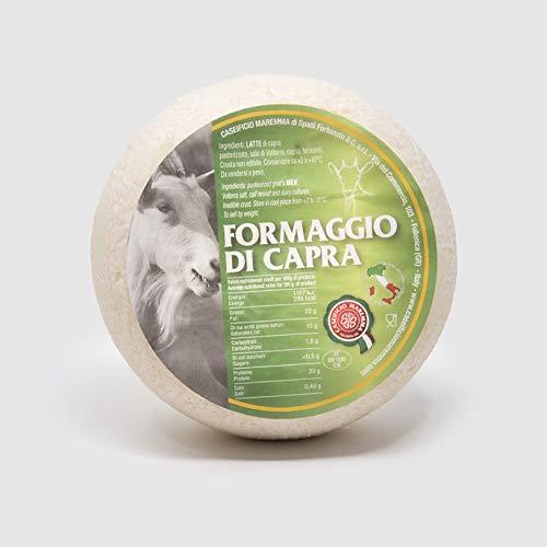 Formaggio di Capra | mezza forma sottovuoto da 0,6 kg | formaggio artigianale toscano | Salumificio Artigianale Gombitelli - Toscana