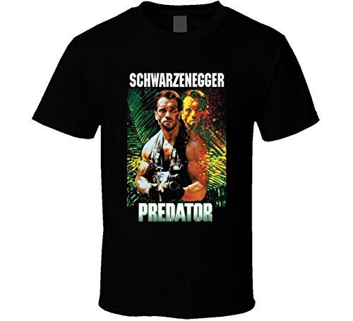 Predator Schwarzenegger 80's Movie T-shirt for Men, Black