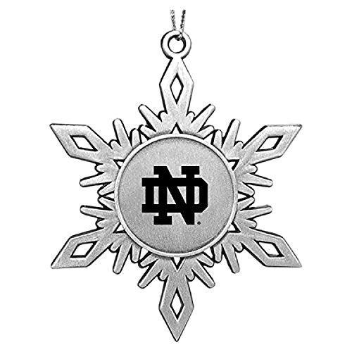 LXG, Inc. University of Notre Dame|Snowflake Ornament|Pewter