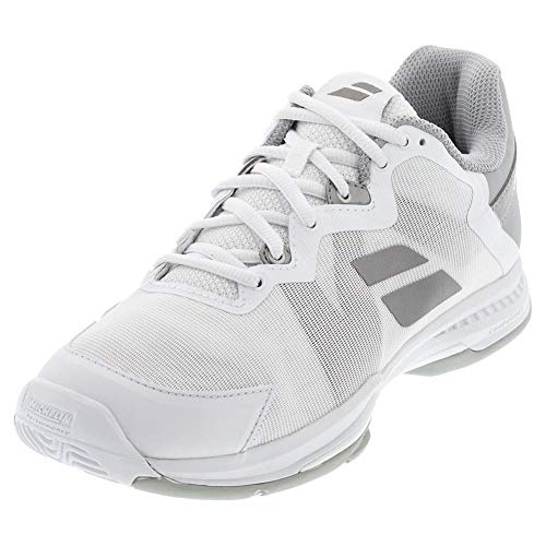 Babolat Women's SFX3 Tennis Shoes, White/Silver (US Size 8)