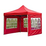 DFGGG Tent Cloth Portable Waterproof Oxford Canopy Top Cover Outdoor Rainproof Garden Gazebo Replacement Cloth for Camping Red Roman Window