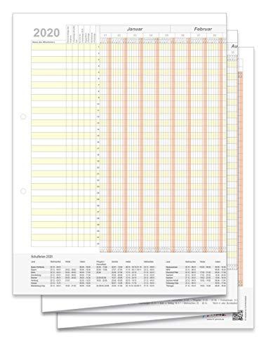 Holyplan 2020 - Personalurlaubsplaner - Kalender für 32 Mitarbeiter/Personen/Objekte