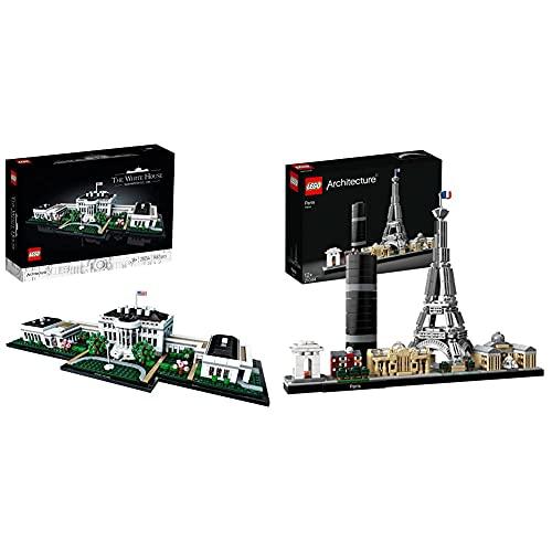 LEGO 21054 Architecture Das Weiße Haus Bauset für Erwachsene, Geschenkidee für Sammler & Architecture Paris Skyline-Kollektion, Eiffelturm und Louvre aus Bausteinen, Geschenk für Kinder und Erwachsene