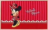 Disney Minnie Mouse Tappeto Arredo, Rosso, 80 x 140 cm