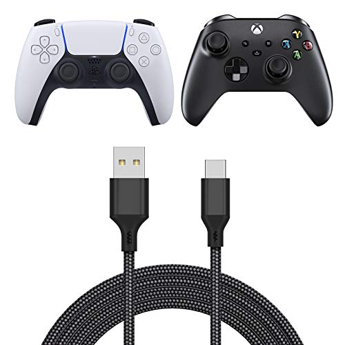 Charging Cable for Xbox Series X/Series S Controller, Fast Charging USB Type C Charger Cord Campatible with Sony PS5 Dual Sense Controllers, Nintendo Swith and Switch Lite- 16.4ft