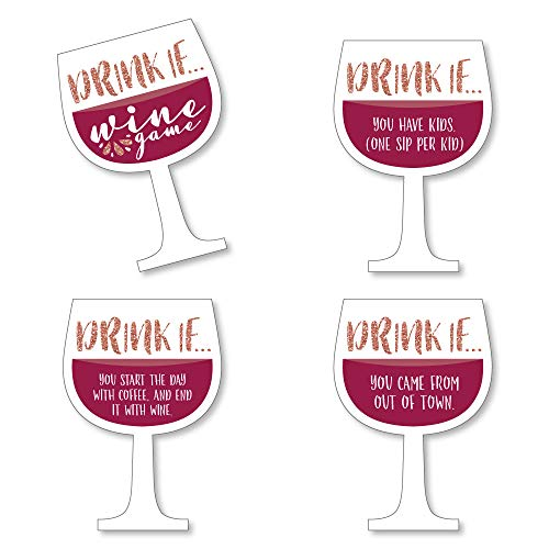 Drink If Game - But First, Wine - Wine Tasting Party Game - 24...