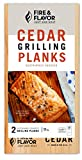 Fire & Flavor Cedar Grilling Planks, 11 Inch, 2 Planks