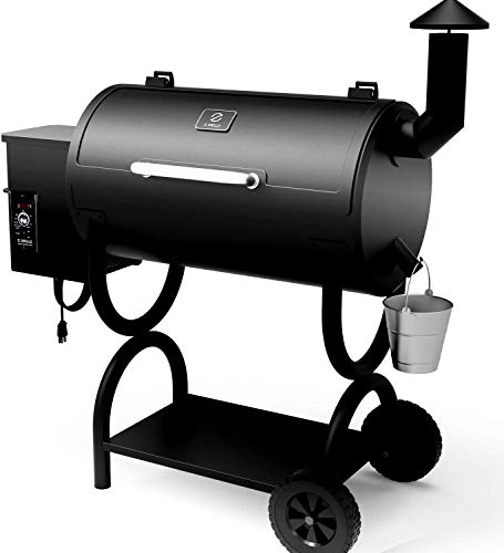 Lowest Prices! Z GRILLS Pellet Grill Smoker -,6-in-1 Outdoor Wood Pellet BBQ Grills with Electric Di...
