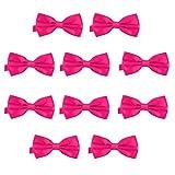 DonDon Set de 10 Pajarita para hombre de 12 x 6 cm ajustable y lista para usar - Rosa 2