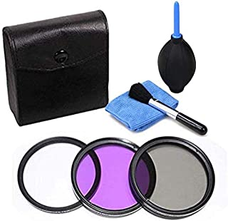 67MM Uv+Cpl+Fld 3 In 1 Lens Filter Set Bag For Canon Nikon Sony Pentax Camera Lens with Camera Cleaning Kit