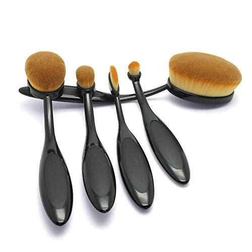 Multifonctionnel Portable Brosse À Maquillage Ensemble 5 Type De Brosse À Dents Fondation Blush Pinceau Ombre À Paupières Brosse Beauté Maquillage Outil Noir