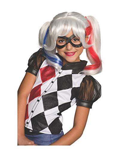 Horror-Shop Harley Quinn Kinderperücke für den Kinderfasching & Motto Parties zum Kindergeburtstag