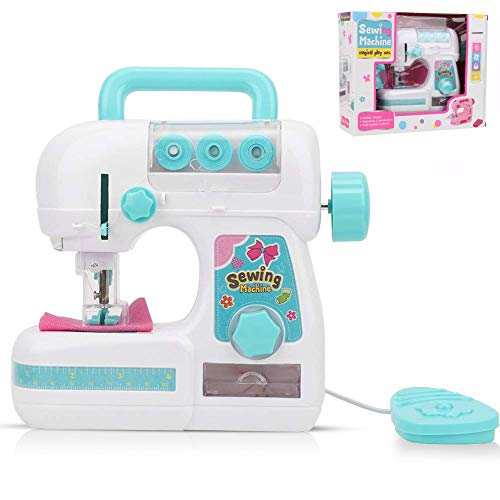 YOUTHINK Kids Sewing Machine Toys, Electric Sewing Machine Toys for Children Mini Sewing Machine Toys Household Manual Educational Interesting Toy for Kids Girls
