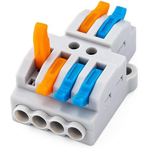 OFAY Conectores De Tuerca De Palanca De 10 Piezas, Conector De Cable De Cableado Rápido, Bloque De Terminales De Conductor A Presión (2 En 4)