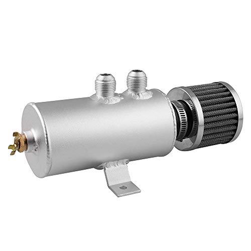 Auto Olie Kan Olie Ketel Universele Auto Gereviseerde Accessoires 300 Ml Cilinder Aluminium Motorolie Pot Reservoir Tank Kan Met Breather Filter Kit Kleur: wit