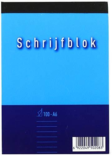 Notizblock DIN A6 liniert 60g 100 Blatt