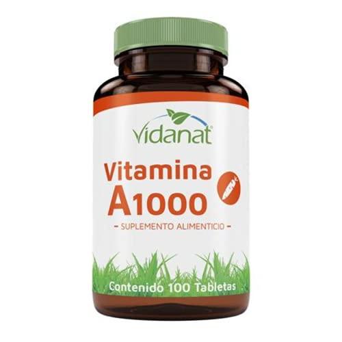 Vitamina A 100 Tabletas De 1000 Mg Vidanat.