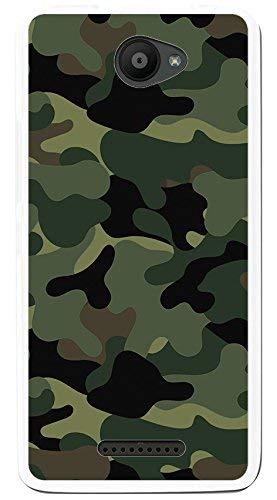 Tumundosmartphone Funda Gel TPU para BQ AQUARIS U/U Lite diseño Camuflaje Dibujos