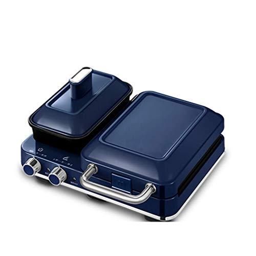 Máquina de desayuno del fabricante de sándwiches del fabricante, 4 funciones de freír, asar y humeante, fabricante de waffle para el hogar, adecuado para la cocina de casa y la fiesta doislll liuchang