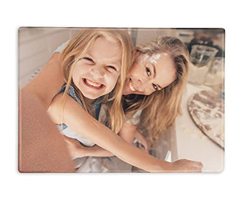 ORWONet - Foto-Glasbrett | Frühstücksbrett gestalten | ca. 30 x 20 cm | Antirutsch-Noppen | geruchsneutral | spülmaschinenfest | Kratzfest