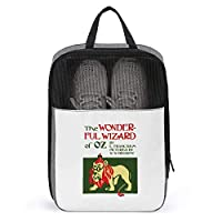 シューズケース オズの魔法使い シューズ袋 シューズバッグ トラベル 旅行ポーチ 旅行バッグ 靴収納 手持ち付き 収納袋 靴入れ 多機能 防水 防塵 トラベル用 2点セット 大容量