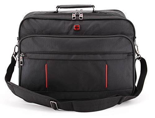 Mesenger Bag Hochwertige Flugbegleiter Arbeitstasche Herrentasche Bordcase Trolley Querformat (Nylon Querformat)