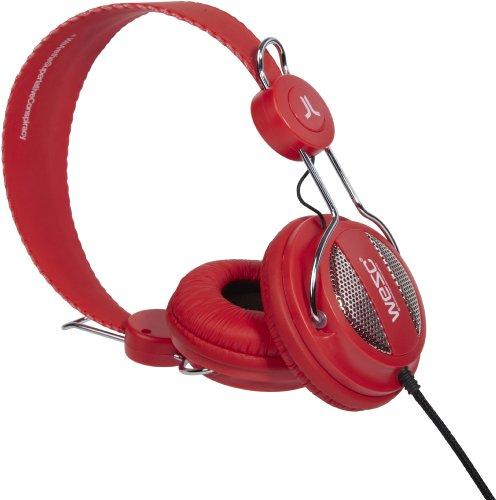 Wesc Oboe Blanery Green - Auriculares con sistema de manos libres, rojo y plateado