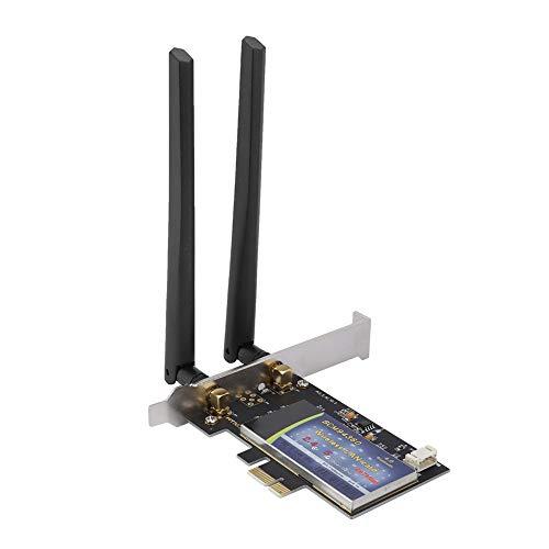 Annadue Scheda di Rete Wireless per PC, Scheda PCI-E per PC Desktop Scheda di Rete AC Dual-Band 1300 Mbps (Wireless + Bluetooth 4.0), Scheda Wireless ad Alta velocità a Bassa latenza.
