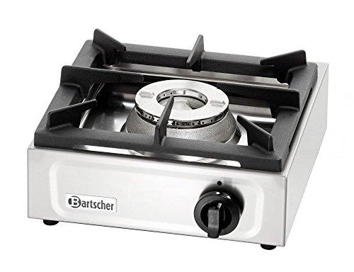 Bartscher 1059503 Gaskocher 1K650 mit einer Kochstelle, 10,8 kg, silber/schwarz