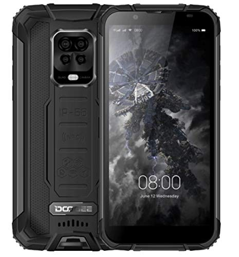 DOOGEE S59 PRO2021Rugged Smartphone, Batteria 10000mAh, Octa Core 4GB+128GB(256GB SD Esterna), Telefono Cellulare Impermeabile IP68, Altoparlante Potente 2W,Fotocamera Quattro 16MP, DUAL SIM Nero